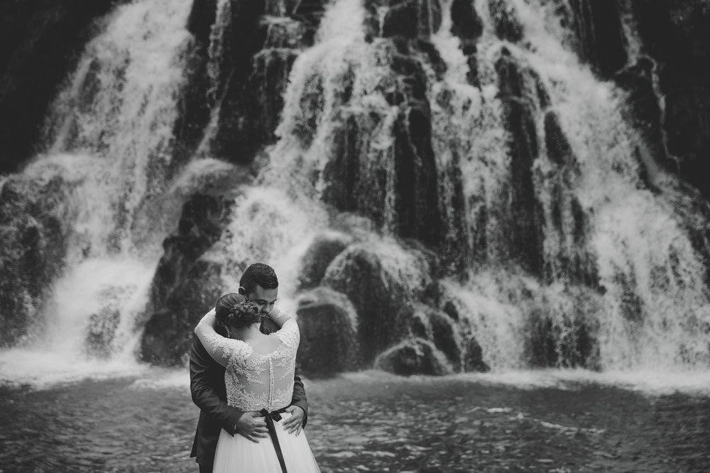 Weddings are a public declaration of love but there should always be time alone to reflect on the massiveness of the moment. This image of Khan and Blaire shot by me (Eva) was voted second place, I think because it conveys emotions and feelings as much as the creativity of the beautiful setting in Karangahake Gorge, Bay of Plenty.