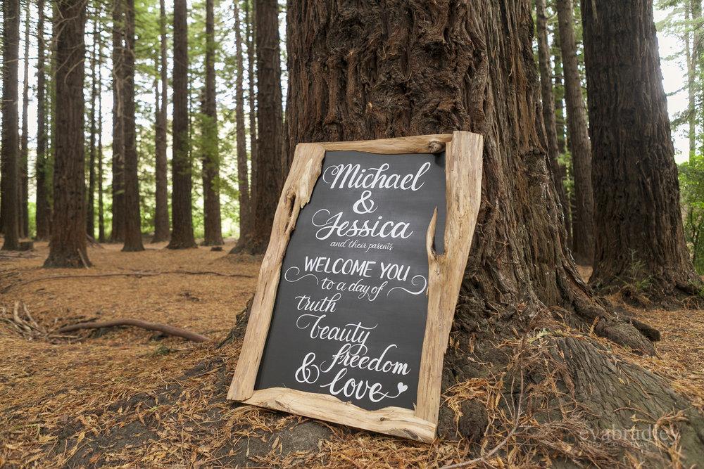 redwoods wedding te mata peak