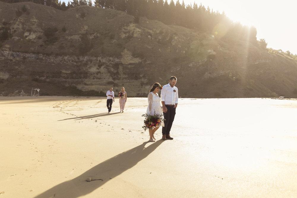 hawkes bay elopement wedding nz