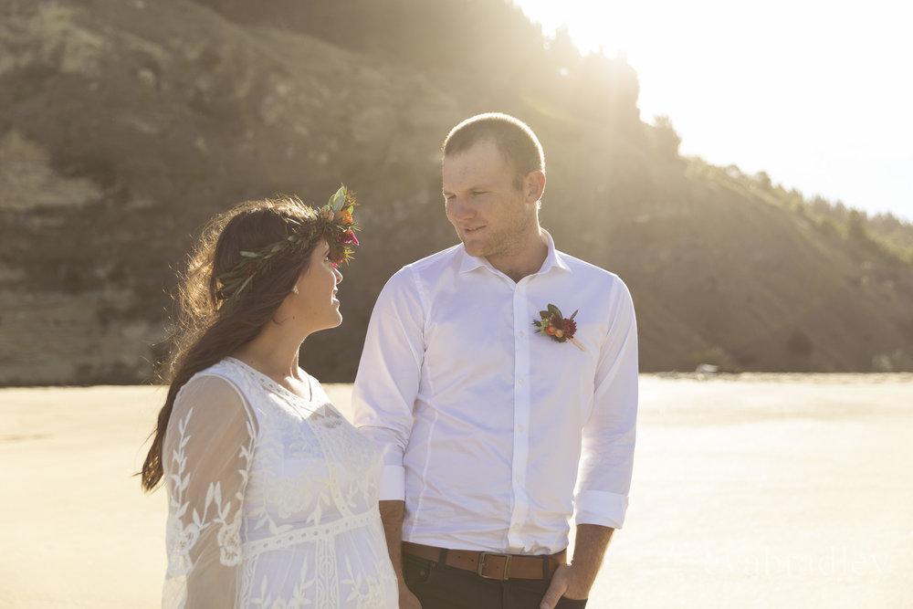 waipatiki beach elopement