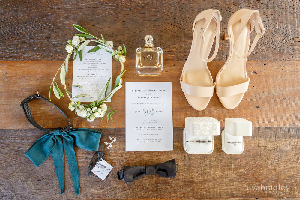 flat lay palmerston north weddings