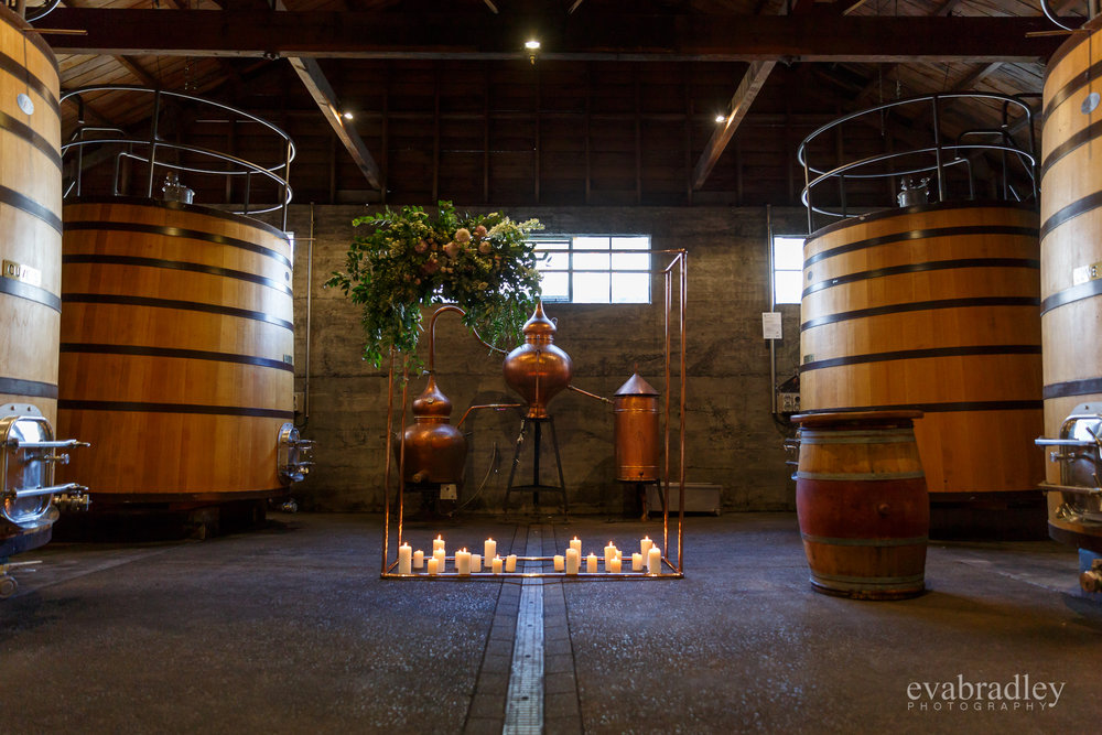 church road winery cuve room