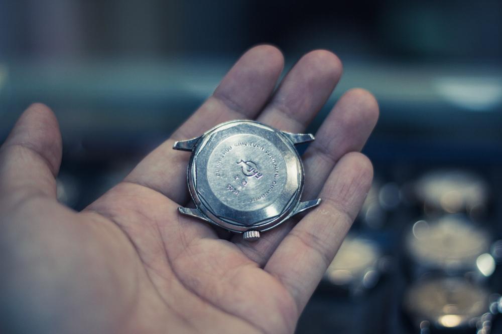 Vintage  Guangzhou  timepiece.