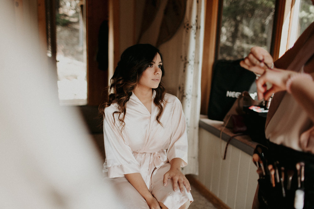 The Pretty Haus Collective Getting Ready Images with Banff Elopement Photographer Kandice Breinholt