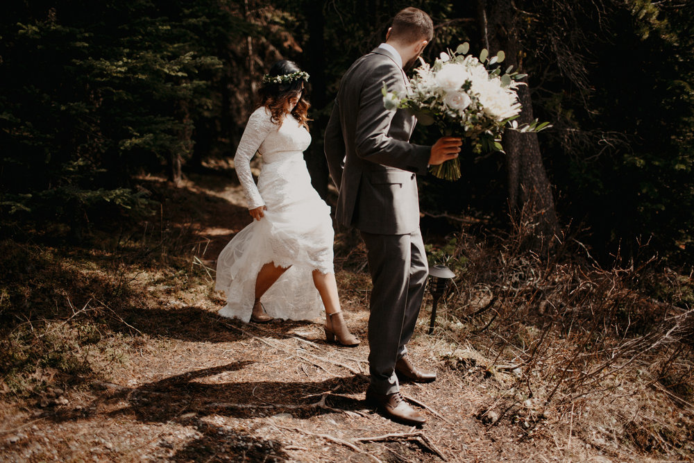 Banff forest elopement | Banff Elopement Photographer Kandice Breinholt