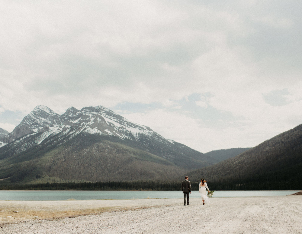 Banff forest and lakeside elopement | Banff Elopement Photographer Kandice Breinholt