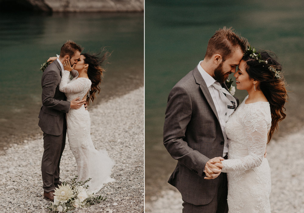 Banff, Alberta Canada elopement | Banff Elopement Photographer Kandice Breinholt | Willow Flower Co Bouquet and Flower Crown