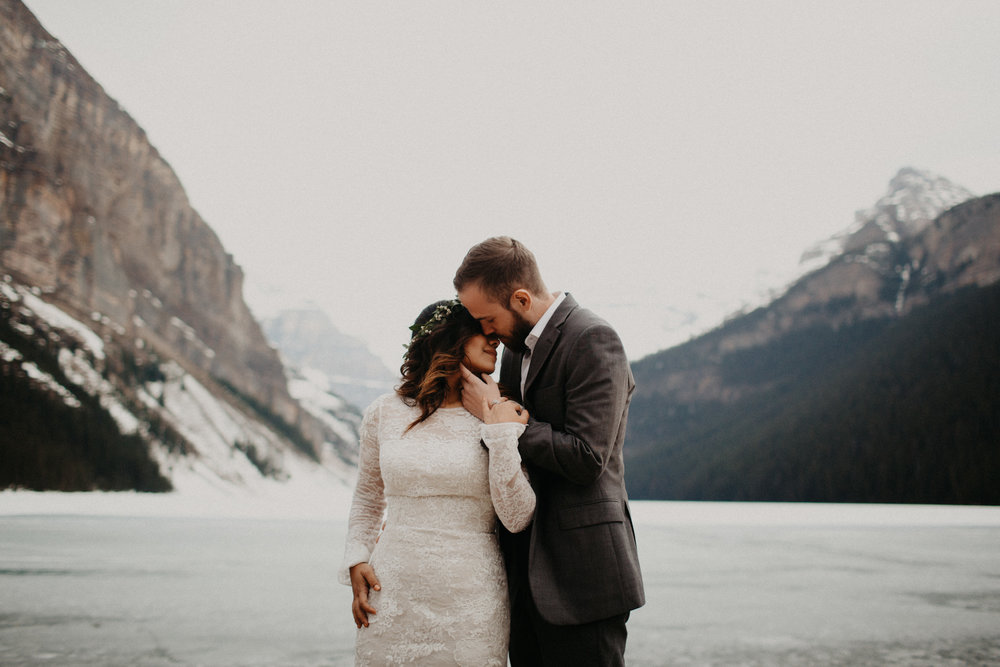 Lake Louise Elopement | Elope in Banff | Banff Adventure Elopement Photographer Kandice Breinholt