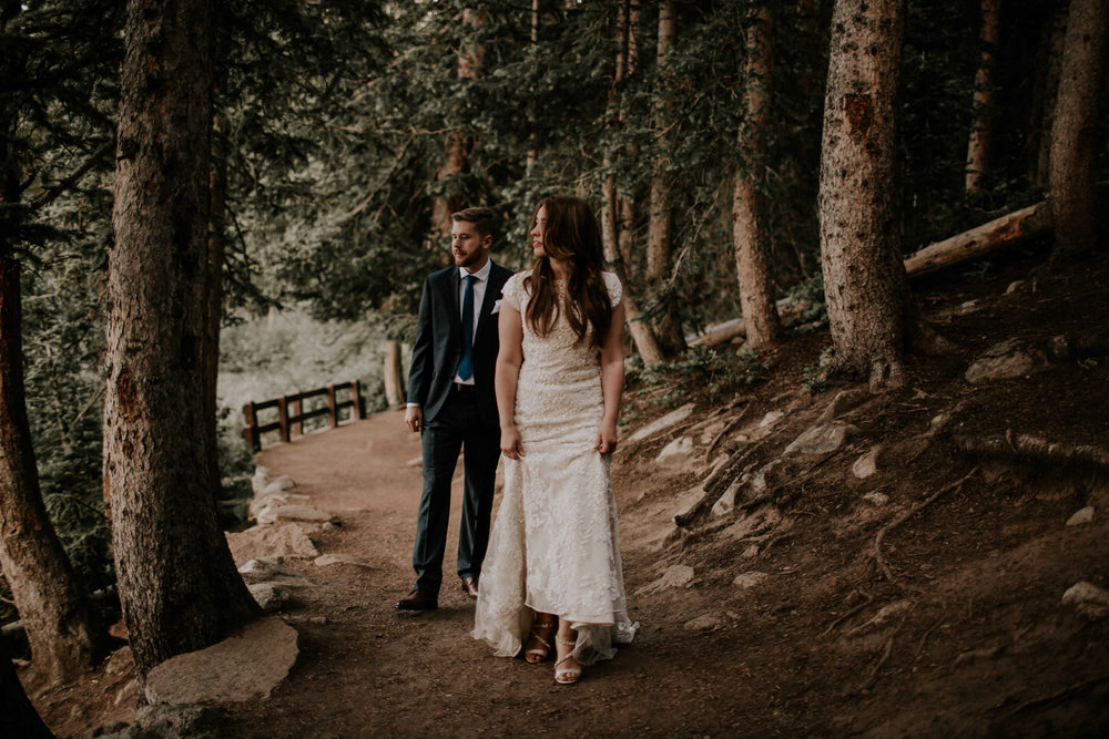 Moody forest and lakeside intimate elopement at Silver Lake Brighton, Utah | Utah Elopement Photographer Kandice Breinholt