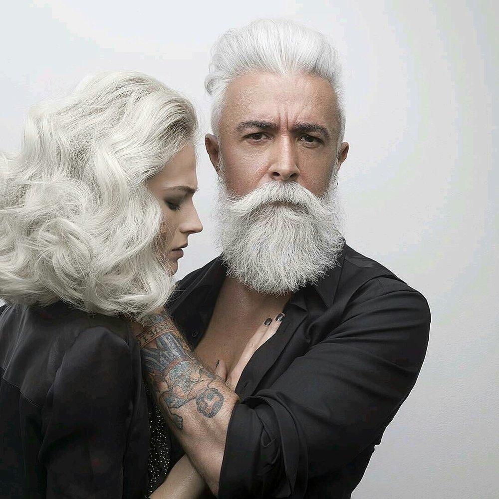 salt & pepper beard style