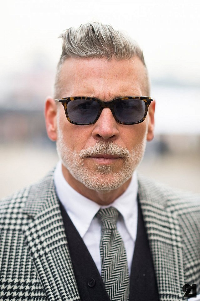 Grey hair for men  nick wooster
