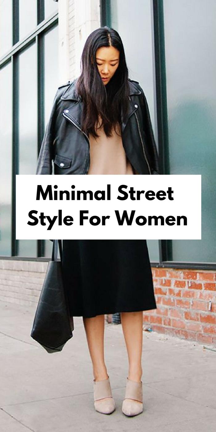 Minimal street style looks for women