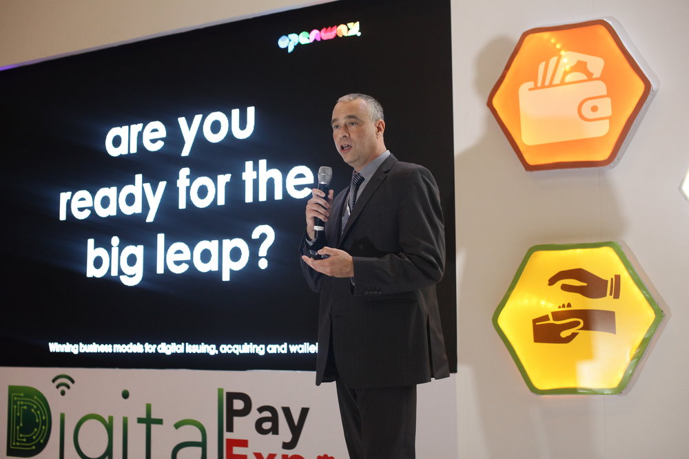 """Are you ready for the big leap?"" - Serge Robyns, Business Development, OpenWay presenting at DigitalPayExpo, Nigeria"