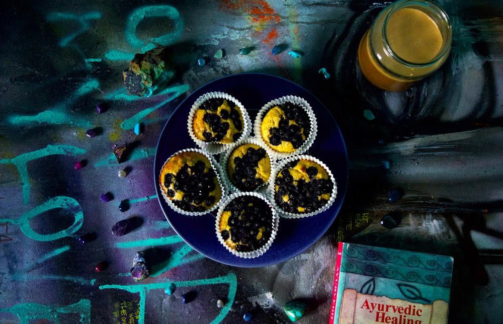 Nyttig blåbärsmuffin Tavla: CODE26