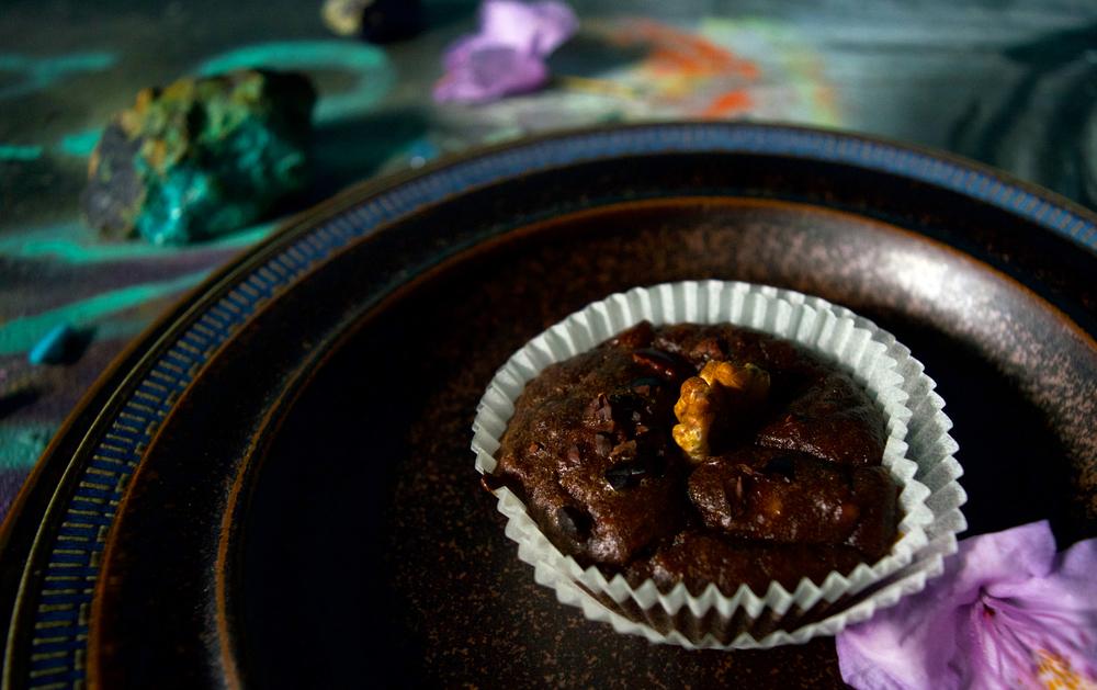 Nyttig chokladmuffin med kakao nibs