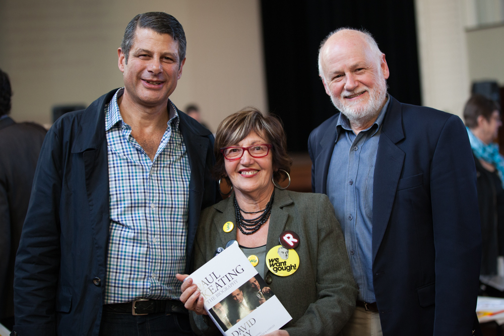 With Steve Bracks and Angela Altair, President of the Willy Lit Fest.