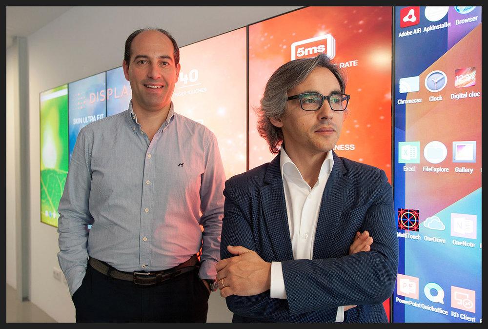 Miguel Fonseca e Miguel Oliveira, da empresa EDIGMA, Braga.