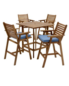 DEL TERRA 5 PIECE TIMBER BAR SETTING