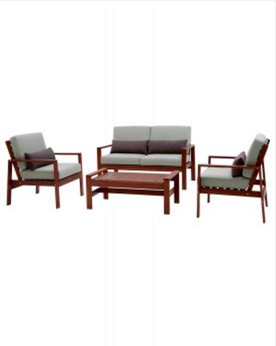 Del Terra Bradley 4 Piece Deluxe Sofa Setting