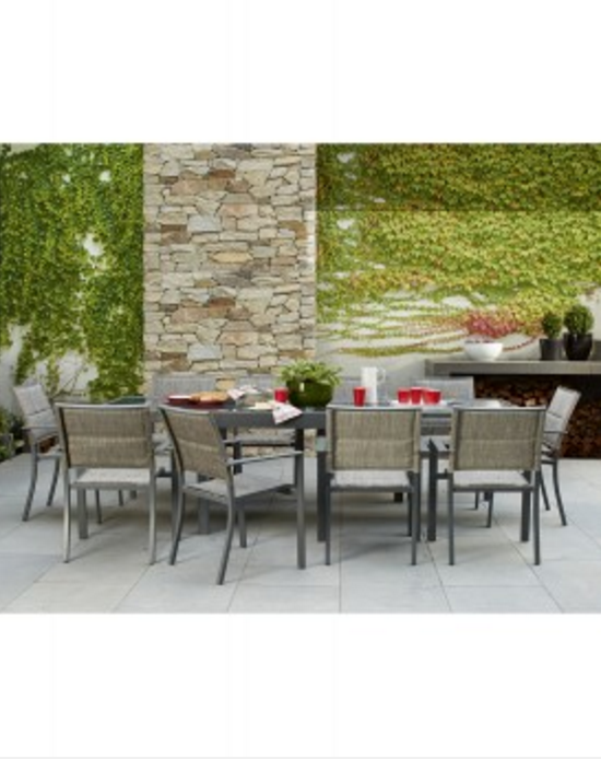 Del Terra Harper 11 Piece Extension Table Setting