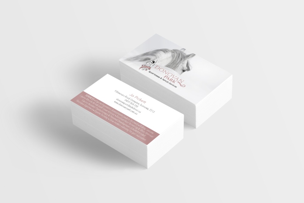 Donovan Park Sport Horses and Rehab Services - Business Cards