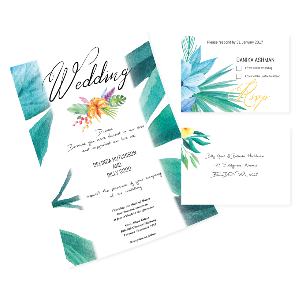 Wedding INVITATIONS And RSVP Cards For A Special Couple. U2014 Fiona Loughran