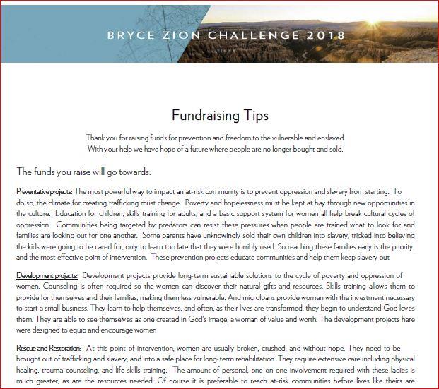 - Fundraising Tips