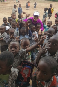 Makwati community school - kids at recess