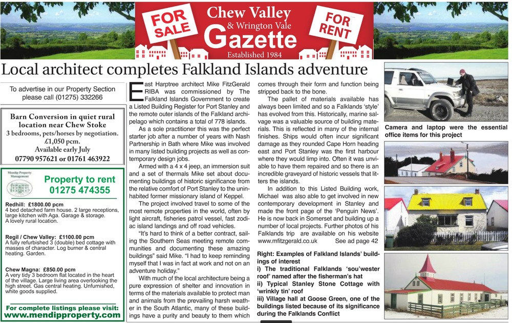 Chew Valley Gazette article June 2015
