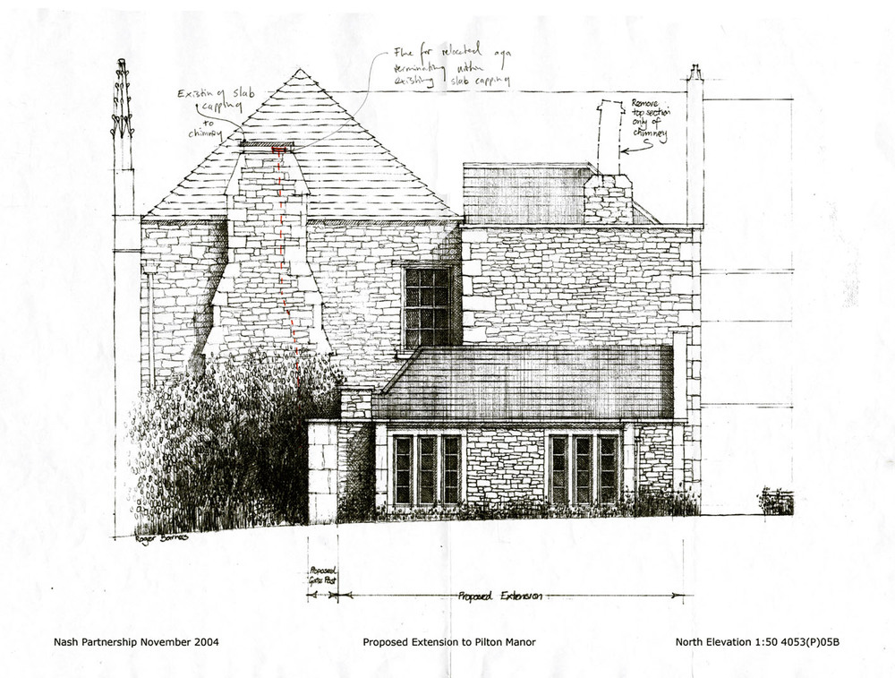NEW BUILD KITCHEN EXTENSION, PILTON MANOR GRADE I LISTED BUILDING, PILTON, UK