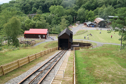 FUNICULAR RAILWAY NEW BUILD, BLISTS HILL, IRONBRIDGE GORGE, UK