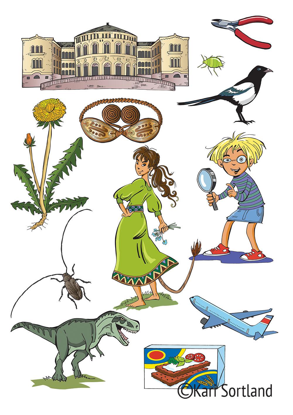 Cumulus, illustrasjoner, illustratør Kari Sortland