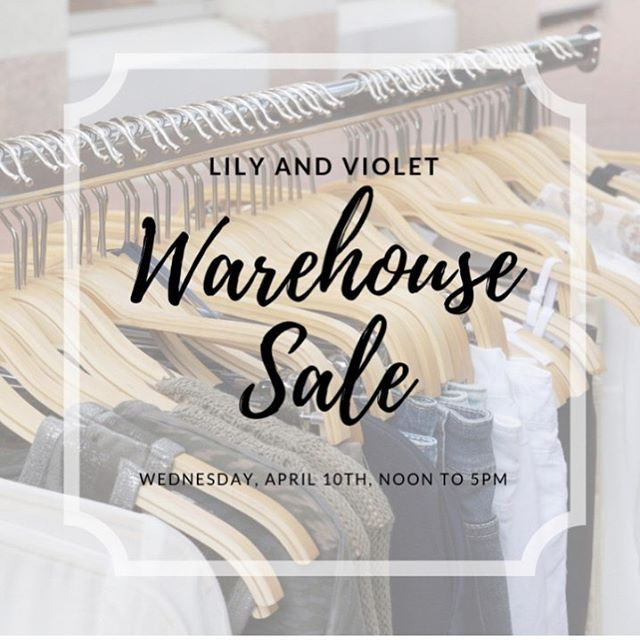 STORE CLOSING SALE and WAREHOUSE SALE Wednesday, April 10th!  ________________  Everything in the Boutique is 25% to 50% off  All Furniture and Fixtures Vintage Furniture Home Decor Gifts Apparel and Shoes Jewelry Hobo bags  __________________________________  Boutique Open Everyday  Join us WEDNESDAY, APRIL 10TH for our  WAREHOUSE SALE  Great Deals in the Warehouse at 50% to 95% off  Warehouse open 12 to 5 Boutique 10 to 5  The Warehouse is located next door to Lily and Violet Boutique (the red house)  Closing the end of April