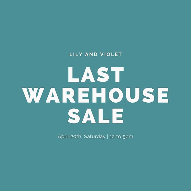 LAST WAREHOUSE SALE!  Store Closing Sale ________________  Everything in the Boutique 25-50% OFF  All Furniture and Fixtures Vintage Furniture Home Decor Gifts Apparel and Shoes Jewelry Hobo bags  __________________________________  Boutique Open Everyday  __________________________________ ** CLOSED EASTER SUNDAY, April 21st ** Join us Saturday, April 20th for our  WAREHOUSE SALE  Great Deals in the Warehouse at 50% to 95% off  Warehouse open 12 to 5 Boutique 10 to 5  The Warehouse is located next door to Lily and Violet Boutique (the red house)  Closing the end of April