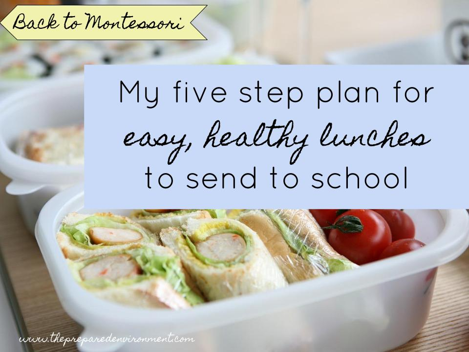 My five step plan for easy, healthy options to send to school.