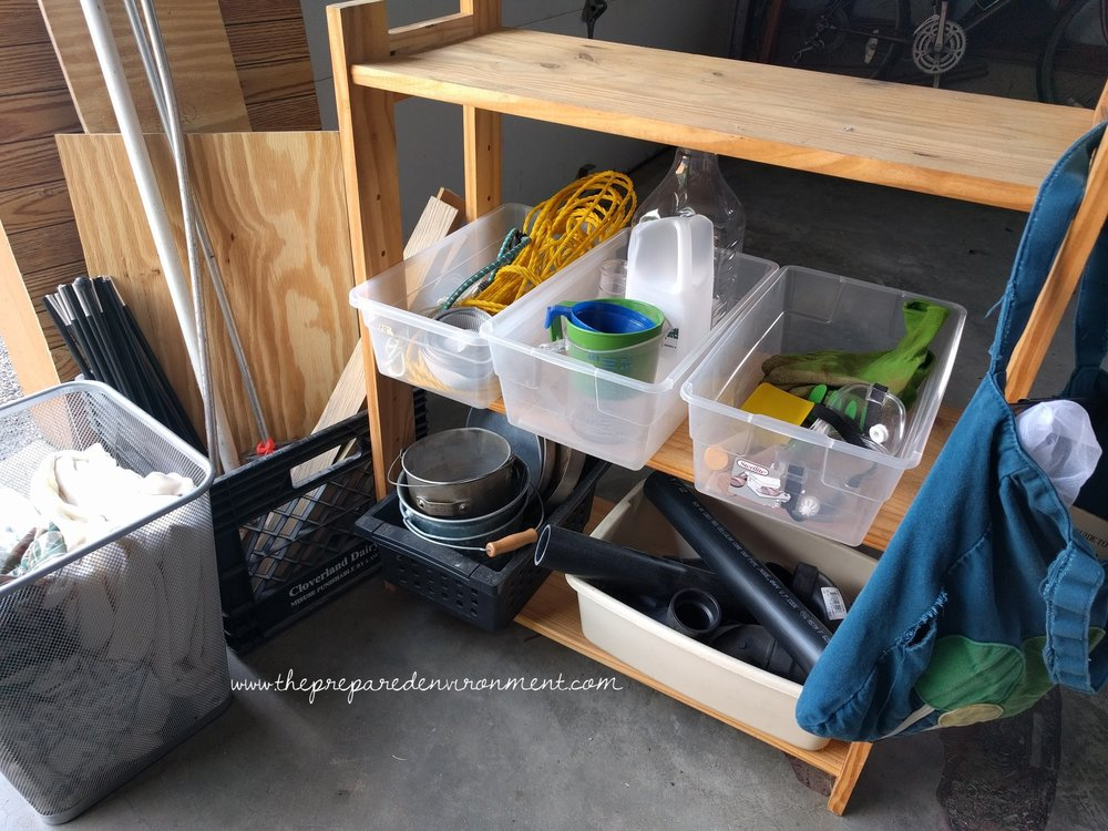 Storage for Wild Play Materials