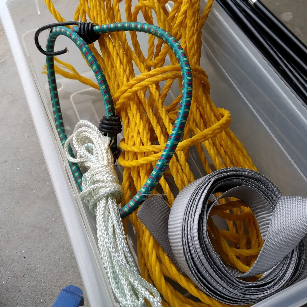 rope, bungee, or string