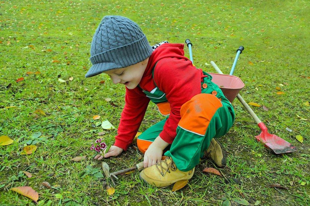 Gardening is excellent for elementary children