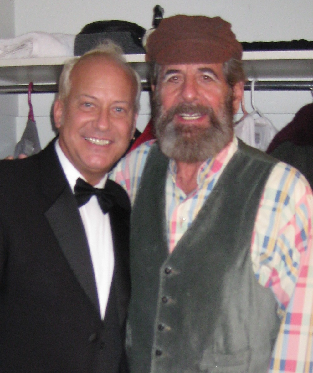 2009, Fiddler on the Roof, DAR with Topol backstage.jpg