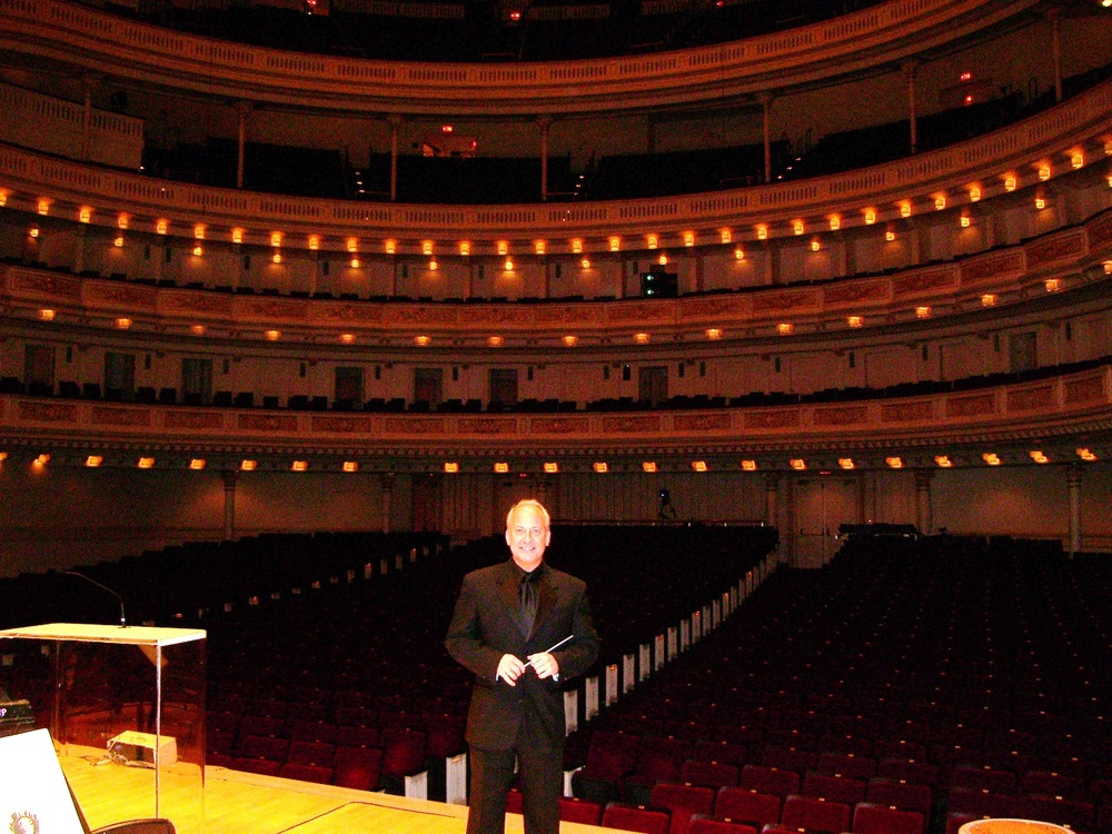 Carnegie Hall debut, with the New York Pops