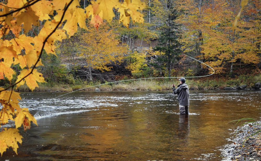 Fly fishing in the rivers of Western North Carolina
