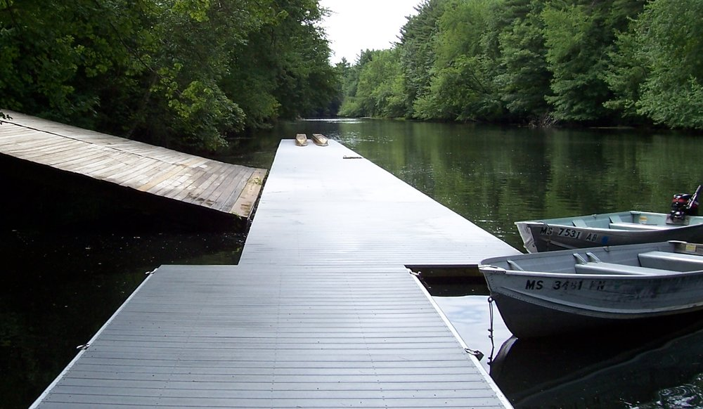 DOCK COLLECTION - Rugged marine grade planking stands up to any weather.