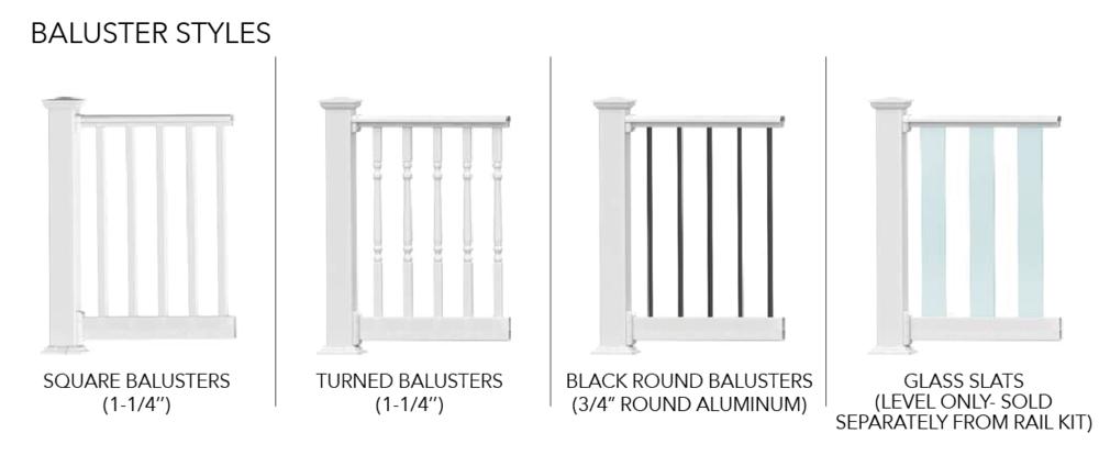 Endurance Original Rail Baluster Styles