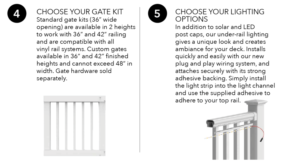 Endurance Original Rail Gate Kit & Lighting Options