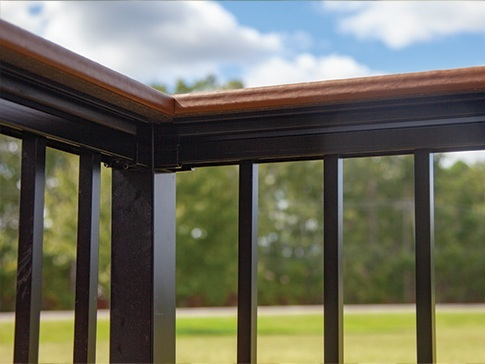 Deck Board Top Rail - The Nantucket deck board adapter fits on top of the rail and allows for the addition of a DuraLife deck board. The perfect solution for resting drinks or plates while entertaining friends and family on your deck!