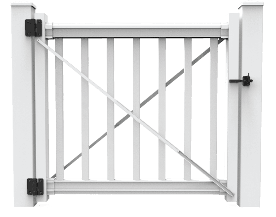 Merrimack Gate Kit - Build a gate with our gate kit – including everything you need to build our matching gate with Merrimack Level Rail Kit (purchased separately).