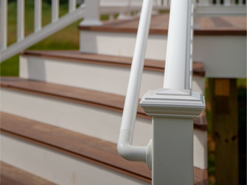 ADA HandRail - ADA Vinyl Hand Rail is a code compliant secondary hand rail to be installed in addition to a primary railing installation on stairs and ramps.