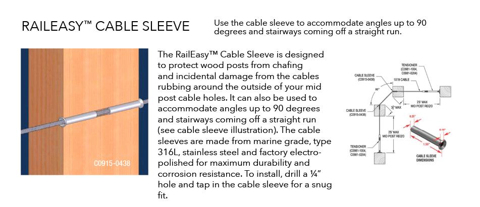 Raileasy Hardware Cable Sleeve