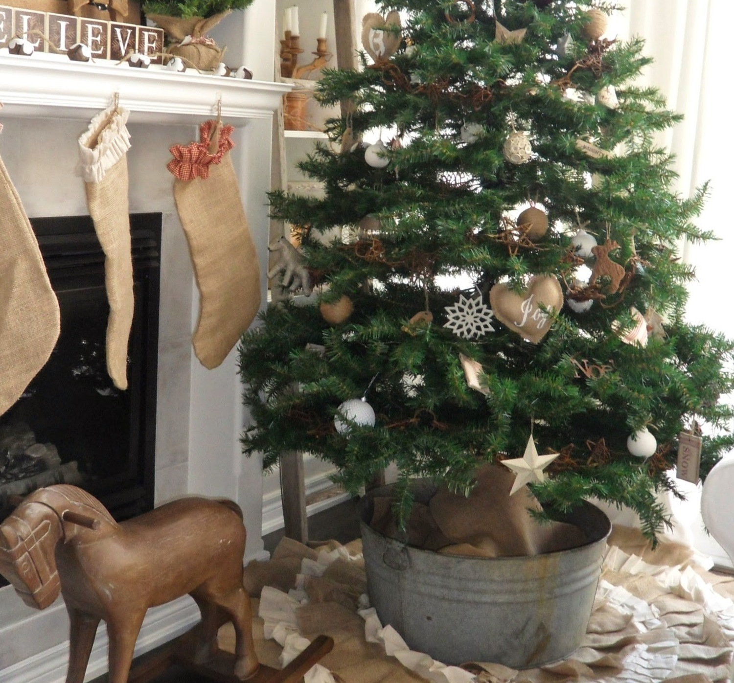caring for ball burlap christmas trees - Burlap Christmas