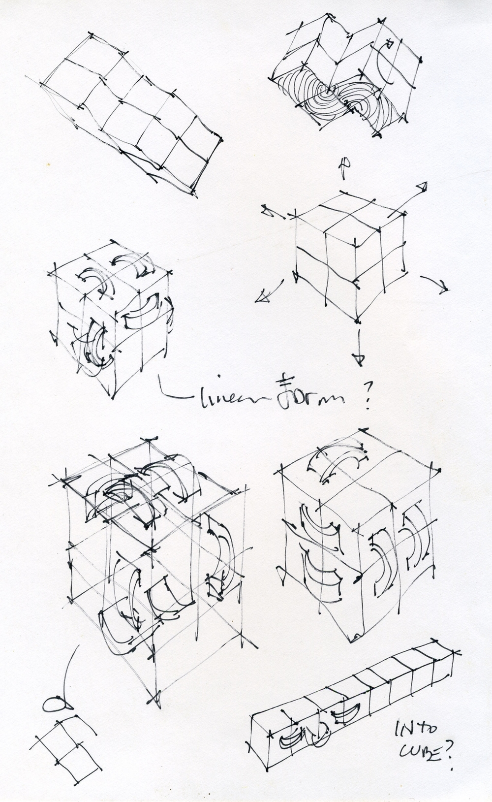 Fourth-dimension Worry Cubes.